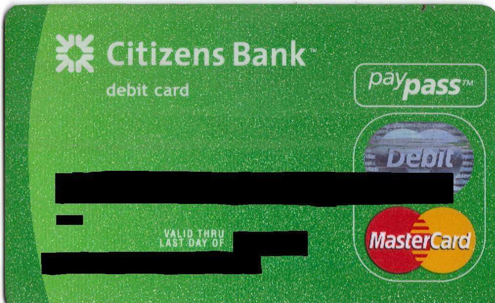 Citizens Bank Debit Card