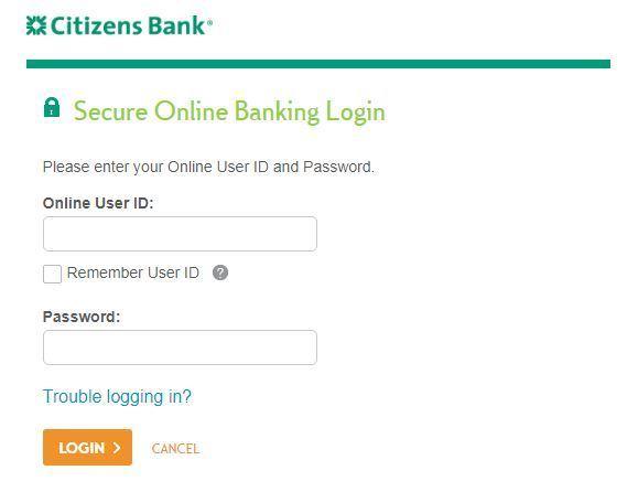 Citizens Bank online account login
